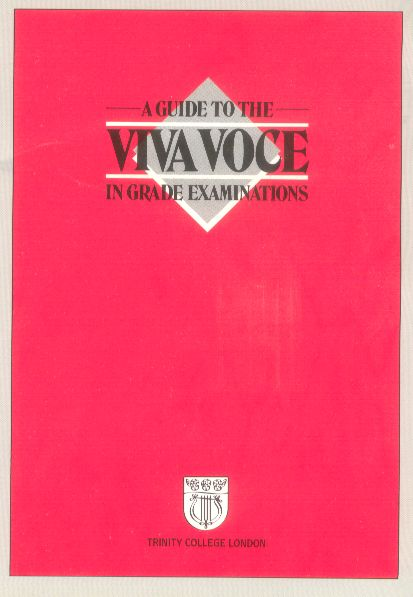 A GUIDE TO THE VIVA VOCE