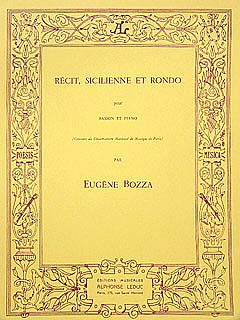 RECIT, SICILIENNE AND RONDO