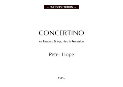 CONCERTINO FOR BASSOON with orchestra