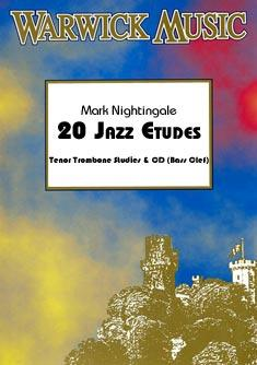 20 JAZZ ETUDES + CD bass clef