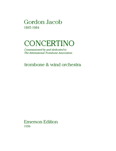 CONCERTINO score &amp; parts