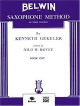 BELWIN SAXOPHONE METHOD Volume 1