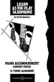 LEARN AS YOU PLAY SAXOPHONE piano accompaniment for tenor