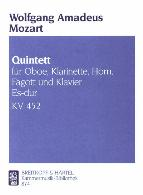 QUINTET IN Eb K452 score and parts